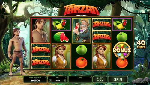 Tarzan Spielautomat Rezension