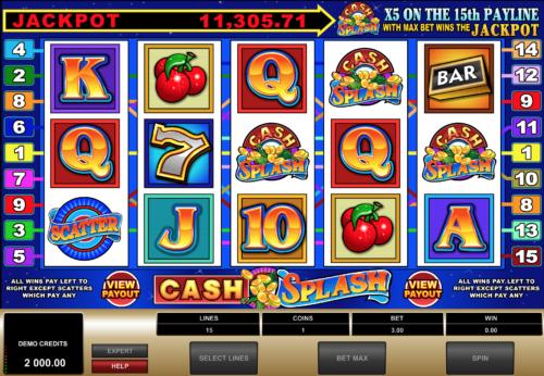 Cash Splash Spielautomat Rezension