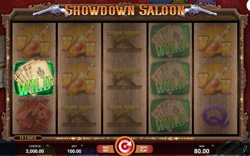 Showdown Saloon Spielautomat Rezension