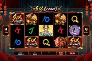 Six acrobats Spielautomat