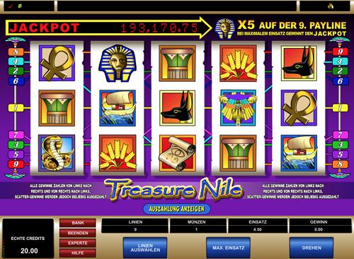 Treasure Nile Spielautomat Rezension