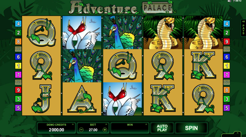 Adventure Palace Spielautomat Rezension