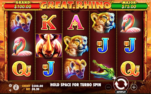 Great Rhino Spielautomat rezension
