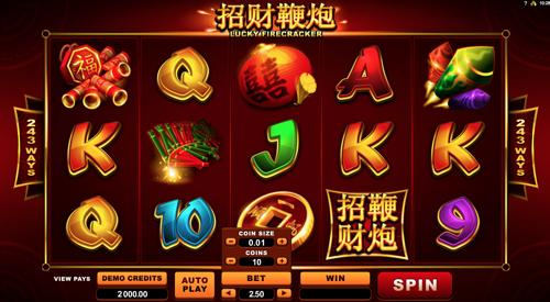 Lucky firecracker Spielautomat Rezension