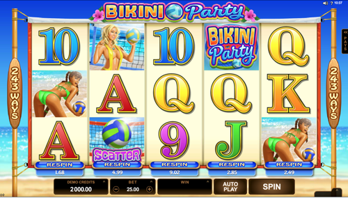 Bikini Party Spielautomat Rezension