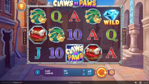 Claws vs Paws Spielautomat rezension