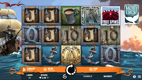Moby Dick Spielautomat Rezension