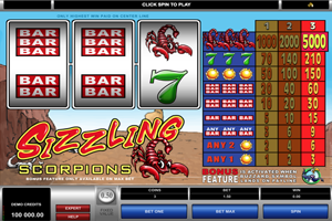 Sizzling Scorpions Spielautomat