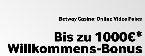 Betway Video Poker Spielautomat